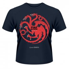 Game of Thrones tričko Fire and Blood navy