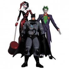 Batman Hush sada figurek Stealth Batman, Joker & Harley Quinn