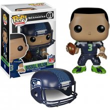 NFL POP! Football figurka Russell Wilson (Seattle Seahawks) blue