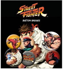 Street Fighter sada odznaků 6-Pack Mix
