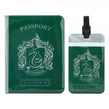 Harry Potter Passport Case & Luggage Tag Set Slytherin