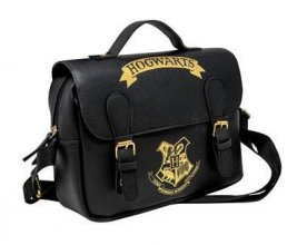 Harry Potter Lunch Bag Bradavice Black & Gold (Satchel Style)