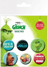 The Grinch (2018) sada odznaků 6-Pack Mix