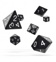 Oakie Doakie Dice RPG Set Solid - Black (7)