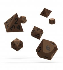 Oakie Doakie Dice RPG Set Metal Dice - Brasstige (7)