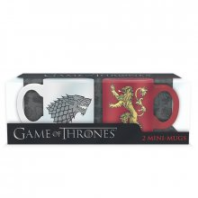 Game of Thrones mini hrnečky Stark a Lannister set 2 ks