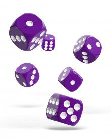 Oakie Doakie Kostky D6 Dice 16 mm Solid - Purple (12)