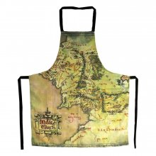 Lord of the Rings cooking apron The Middle Earth Map