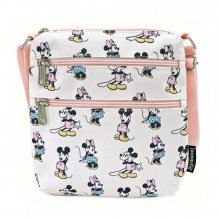 Disney by Loungefly Passport Bag Pastel Minnie Mickey AOP