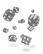 Oakie Doakie Kostky D6 Dice 12 mm Speckled - Black (36)