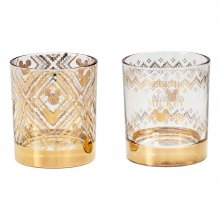 Disney Tumbler Glass 2-Pack Gold Mickey