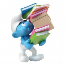 The Smurfs Collector Collection Socha Smurf Stack of Books 17 c