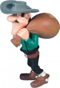 Lucky Luke Figure William Dalton Postal Bag 7 cm