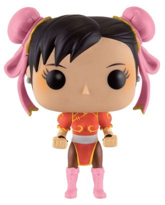 Street Fighter POP! Games Vinylová Figurka Chun-Li (Red Outfit)