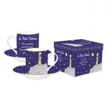 The Little Prince Espresso Mugs Set Navy Blue *French Version*
