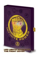 Avengers Infinity War Premium LED Notebook A5 Infinity Gauntlet