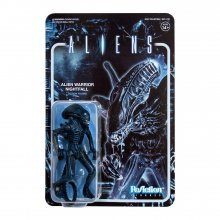 Aliens ReAction Akční figurka Wave 1 Alien Warrior Nightfall Blu
