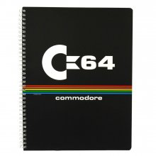 Commodore 64 Notepad A4 Black Logo