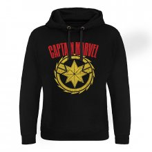 Captain Marvel hoodie mikina Distressed Logo