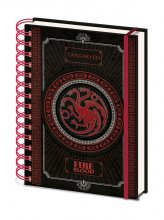 Game of Thrones Wiro Notebook A5 Targaryen