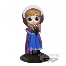Disney Q Posket Mini Figure Anna A Normal Color Version 14 cm