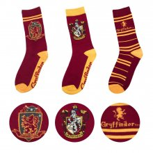 Harry Potter ponožky 3-Pack Gryffindor