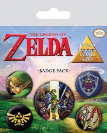 The Legend of Zelda sada odznaků 5-Pack Link