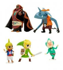 World of Nintendo mini figurka 5-Pack Zelda Wind Waker 6 cm