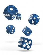 Oakie Doakie Kostky D6 Dice 16 mm Marble - Blue (12)