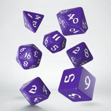 Classic RPG Runic Dice Set purple & white (7)