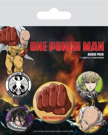 One Punch Man sada odznaků 5-Pack Destructive