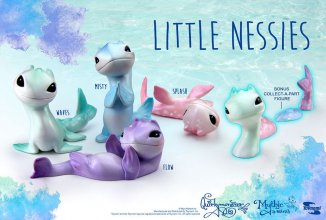 Miyo's Mystic Musings Blind Box Figures Little Nessies Display 8