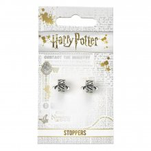 Harry Potter Charm Stoppers 2-Pack Deathly Hallows (silver plate