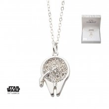 Star Wars Pendant & Necklace Millennium Falcon (silver plated)