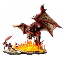Monster Hunter Diorama 1/10 Rathalos The Fiery Bundle 52 cm