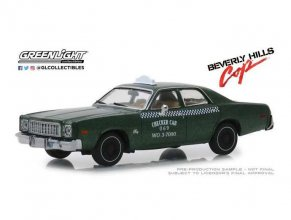 Beverly Hills Cop kovový model 1/43 1976 Plymouth Fury Checker