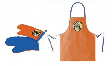 Dragonball cooking apron with oven mitt Turtle Symbol