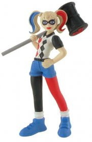 DC Comics Super Hero Girls mini figurka Harley Quinn 9 cm