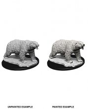 WizKids Deep Cuts Unpainted Miniature Polar Bear sada 6 kusů