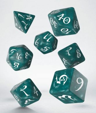 Classic RPG Dice Set stormy & white (7)