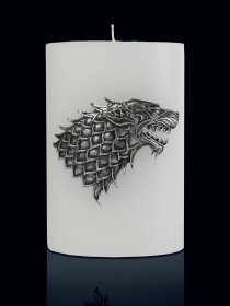 Game of Thrones XXL svíčka House Stark 20 x 13 cm