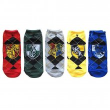 Harry Potter Ladies Ankle ponožky 5-Pack