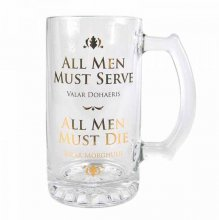 Game of Thrones Glass Tankard Valar Dohaeris / Valar Morghulis