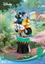 Disney Coin Ride Series D-Stage PVC Diorama Stitch 16 cm