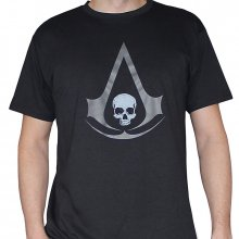 Triko Assassins Creed IV Black Flag Grey Crest