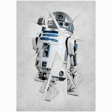 Star Wars kovový plakát Force Sensitive R2-D2 68 x 48 cm