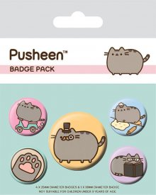 Pusheen sada odznaků 5-Pack Fancy