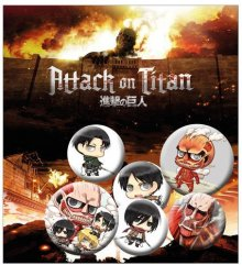 Attack on Titan sada odznaků 6-Pack Mix 2