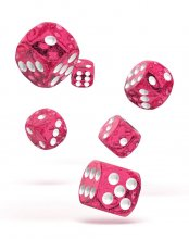Oakie Doakie Kostky D6 Dice 16 mm Speckled - Pink (12)