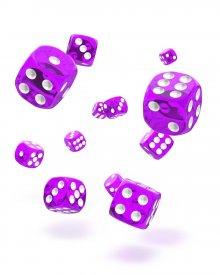 Oakie Doakie Kostky D6 Dice 12 mm Translucent - Purple (36)